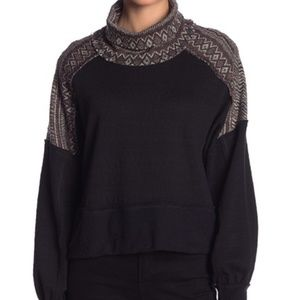 Free People At the Lodge Turtleneck Pullover